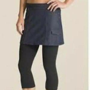 Athleta Bettona S 2 in 1 Skirt Capris Modest